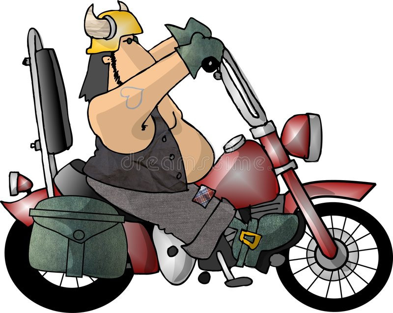 Download Facet motocyklistów ilustracji. Obraz złożonej z cykl, hełm - 41756