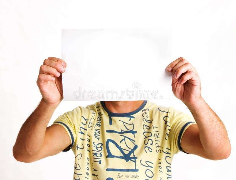 facet papieru opończy obraz stock