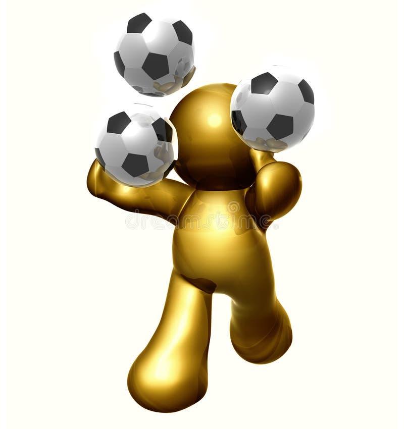 facet piłka nożna zdjęcia royalty free