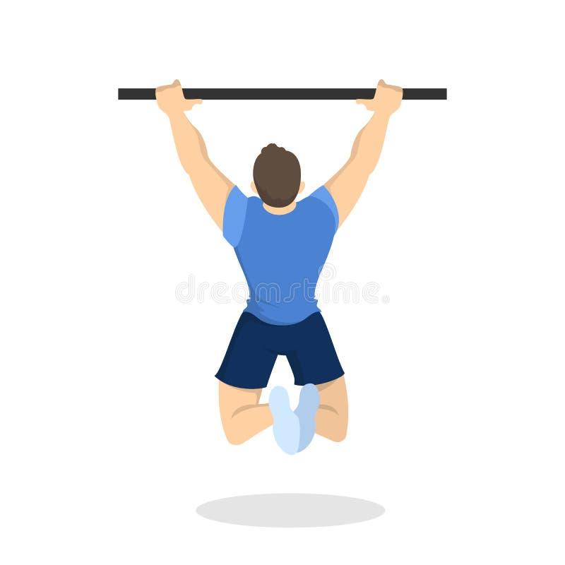 facet szkoleniowe Sprawno?ci fizycznej i bodybuilding ?wiczenie ilustracja wektor