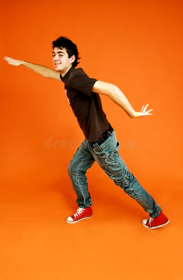facet tańczący zdjęcia stock