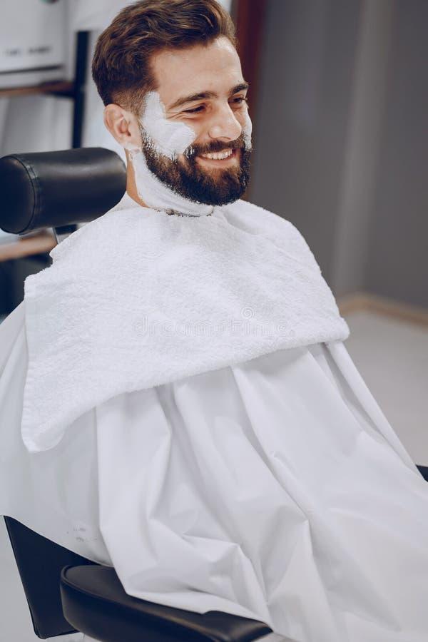 Facet w barbercos zdjęcia stock