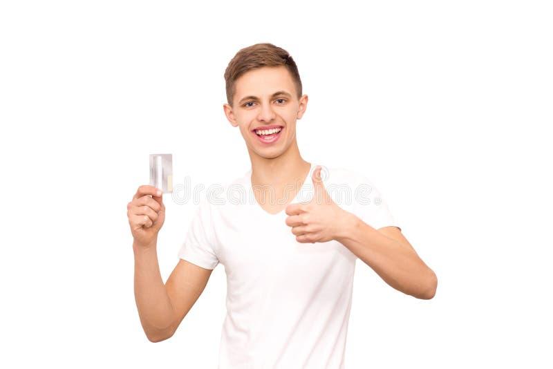 Facet w białej koszulce zdjęcie royalty free