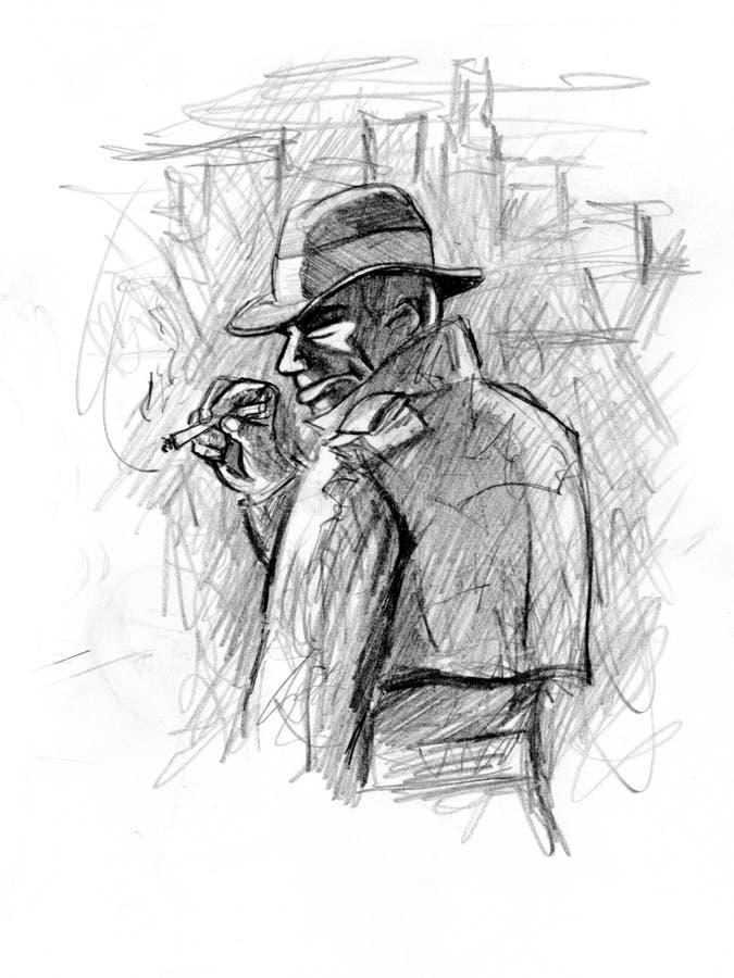 faceta chłodno kapelusz ilustracji