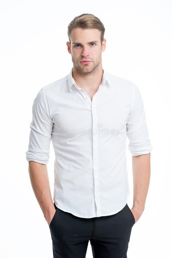 Faceta przystojny urzędnik Pracujący formalny kod ubioru Menswear formalny styl Klerykalny i środkowy łańcuszkowy zarządzanie zdjęcie stock
