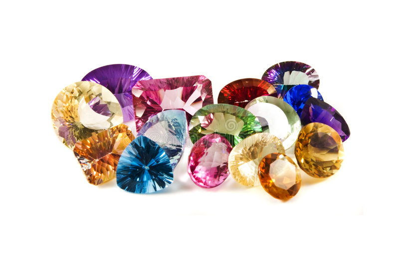 Faceted gemstones royalty free stock image