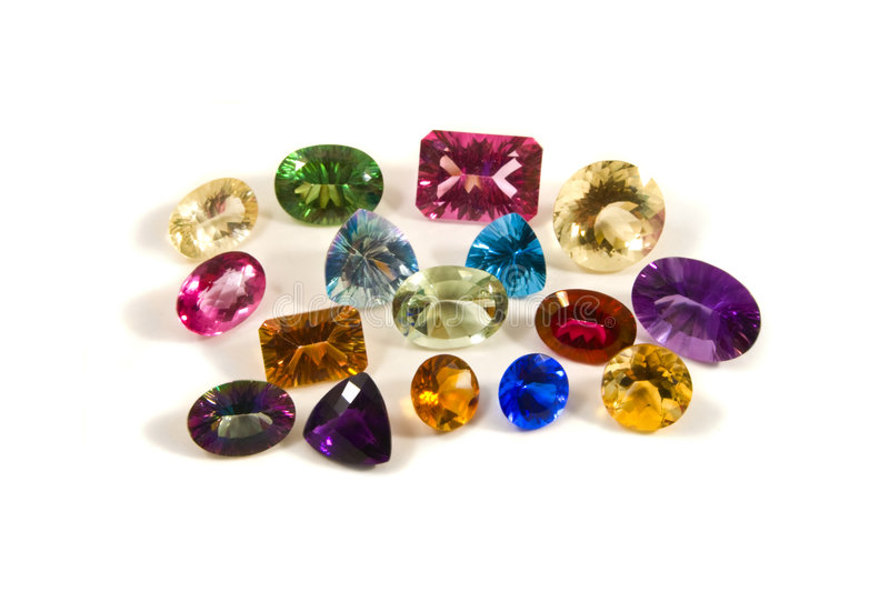 faceted gemstones fotografia royalty free