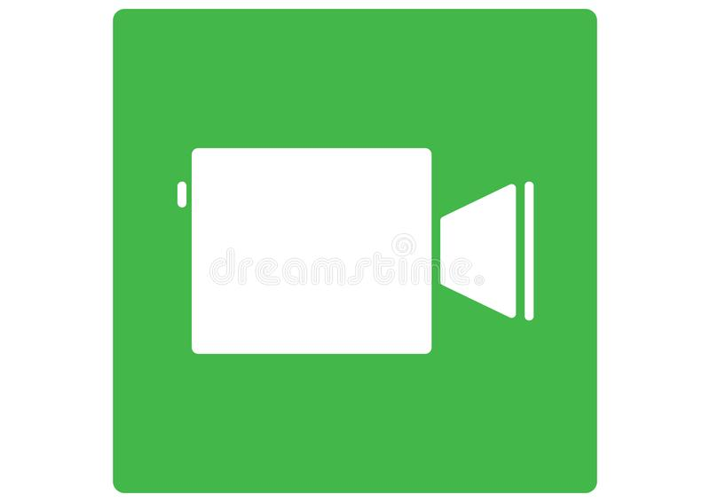 Facetime Apple Logo. Green. vector format available illustrator AI royalty free illustration