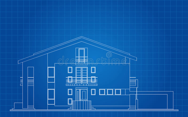 Fachada americana moderna de la casa ilustraci n del for Casa moderna vector