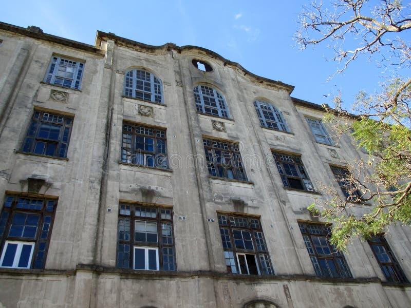 Fachada anterior del hotel inmigrante la Argentina fotografía de archivo libre de regalías