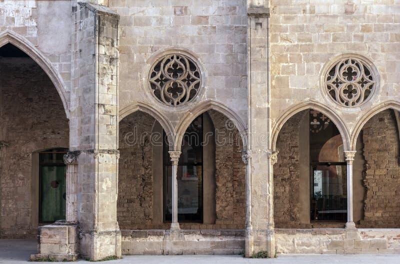Fachada antigua del convento, convento Antic de Sant Agusti, Barcelona imagen de archivo libre de regalías