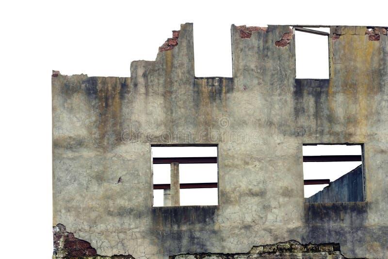 Fachada arruinada vieja de la casa fotos de archivo