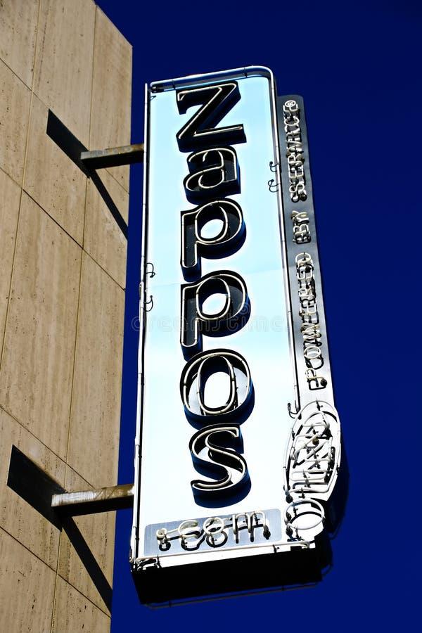 Fachada ayuntamiento Las Vegas Ahora poseído por el minorista en línea Zappos imagenes de archivo