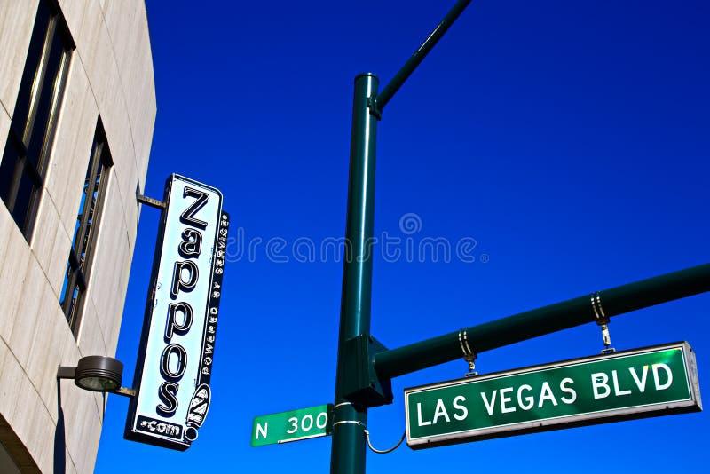 Fachada ayuntamiento Las Vegas Ahora poseído por el minorista en línea Zappos imagen de archivo libre de regalías