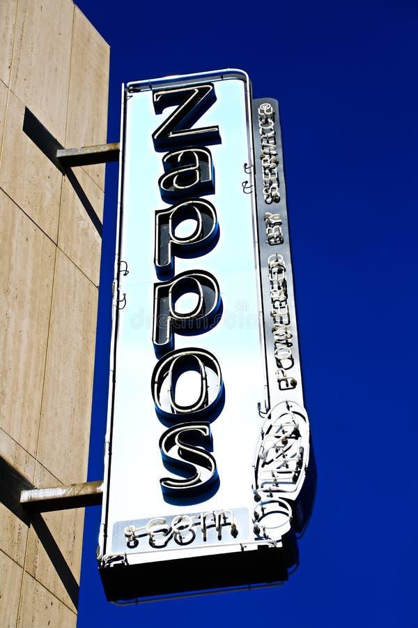 Fachada ayuntamiento Las Vegas Ahora poseído por el minorista en línea Zappos fotos de archivo