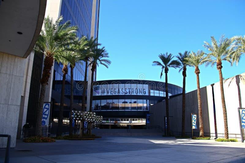 Fachada ayuntamiento Las Vegas Ahora poseído por el minorista en línea Zappos foto de archivo libre de regalías