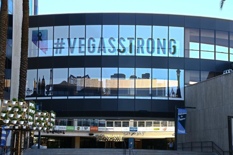 Fachada ayuntamiento Las Vegas Ahora poseído por el minorista en línea Zappos foto de archivo