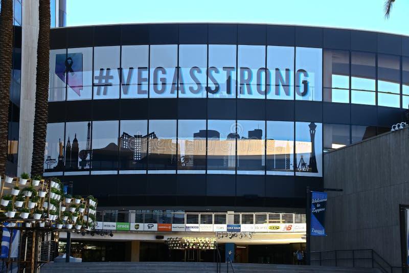 Fachada ayuntamiento Las Vegas Ahora poseído por el minorista en línea Zappos fotografía de archivo