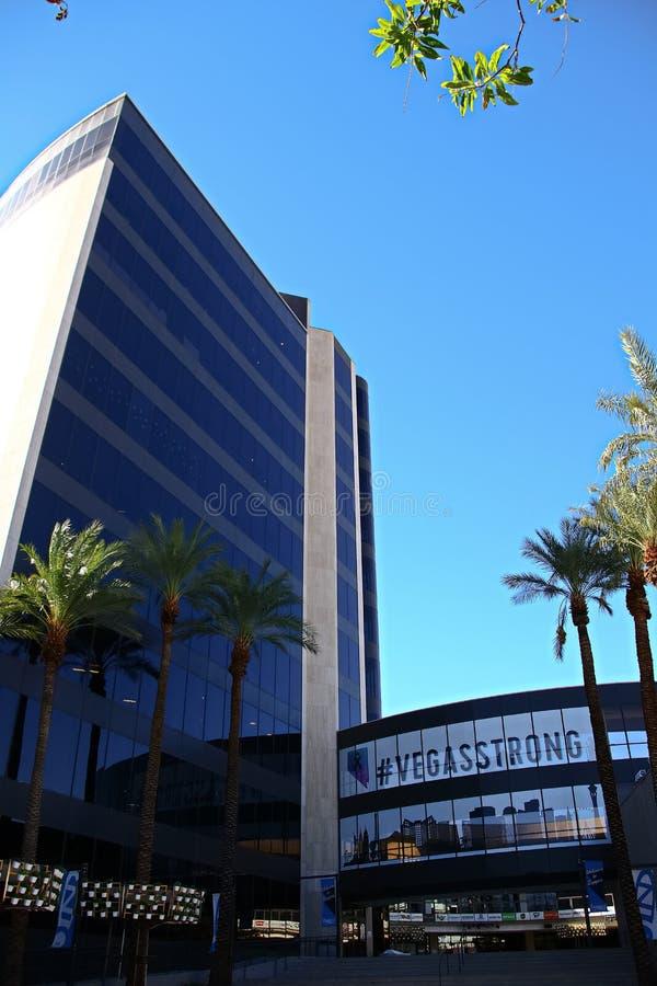 Fachada ayuntamiento Las Vegas Ahora poseído por el minorista en línea Zappos imagen de archivo