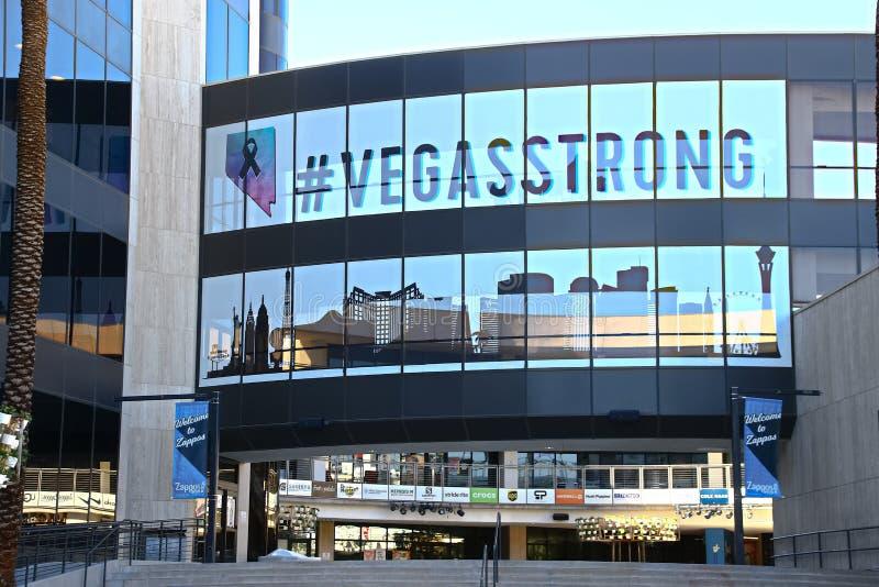 Fachada ayuntamiento Las Vegas Ahora poseído por el minorista en línea Zappos imágenes de archivo libres de regalías