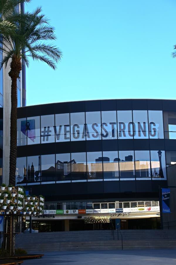 Fachada ayuntamiento Las Vegas Ahora poseído por el minorista en línea Zappos fotografía de archivo libre de regalías