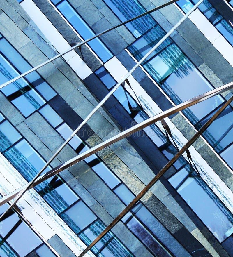 Fachada azul abstrata do negócio imagens de stock