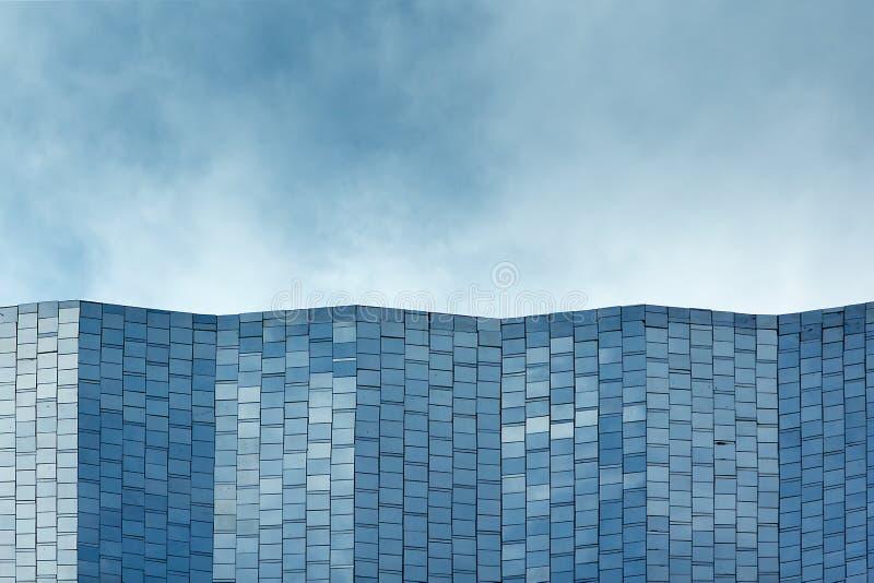 Fachada azul del mosaico foto de archivo