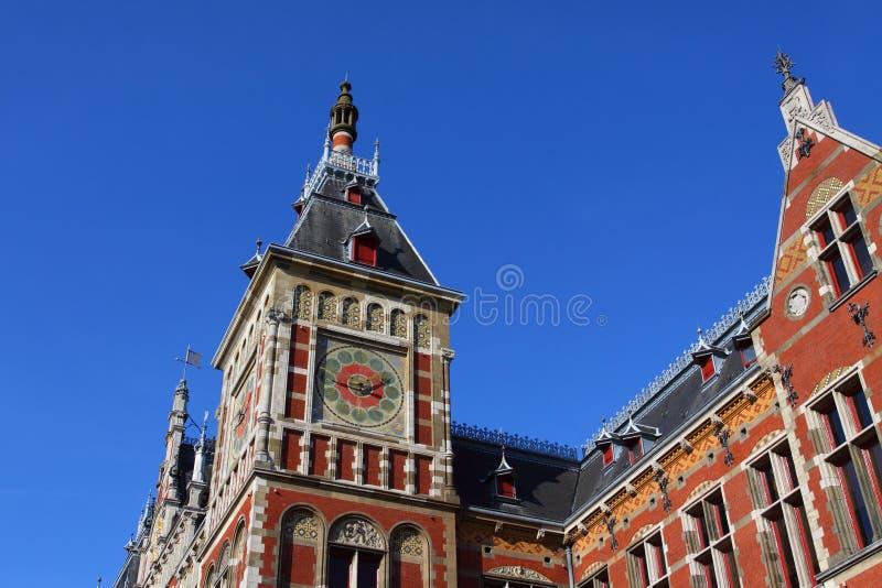 Fachada central da estação de comboio fotografia de stock royalty free