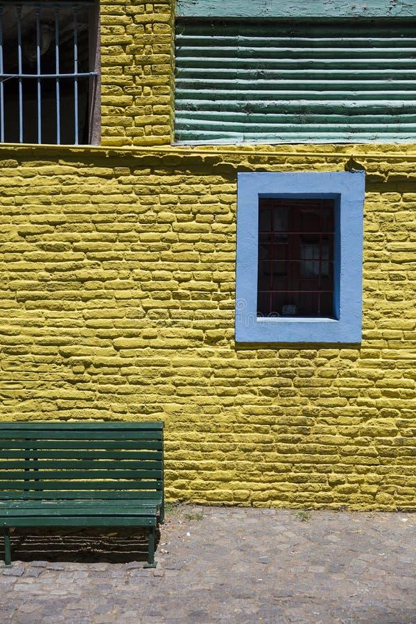 Fachada colorida de Caminito no La Boca, Buenos Aires, Argentin imagem de stock royalty free
