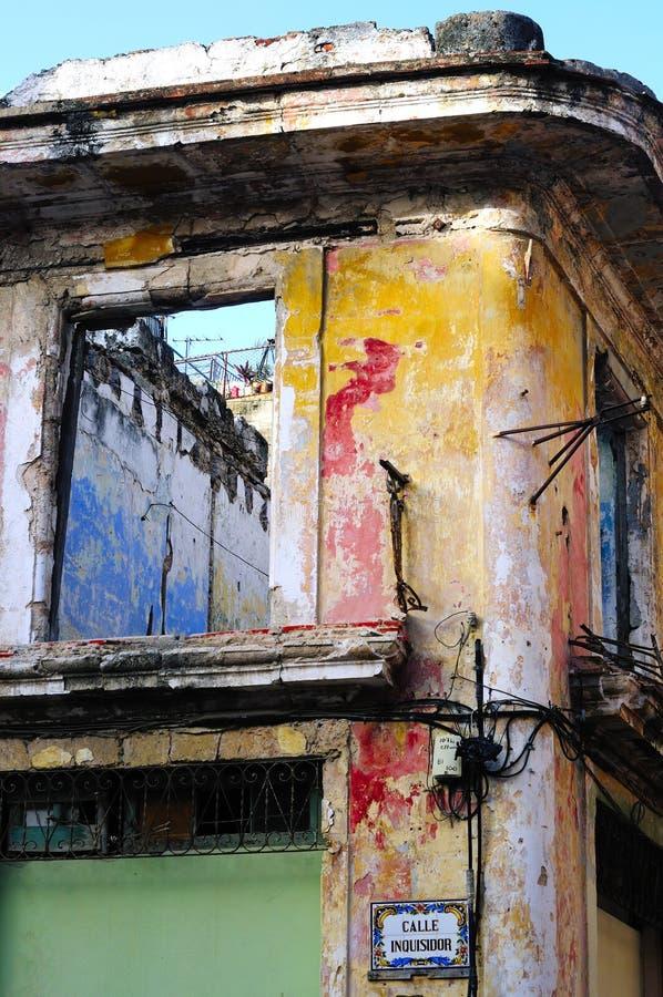 Fachada colorida de La Habana foto de archivo