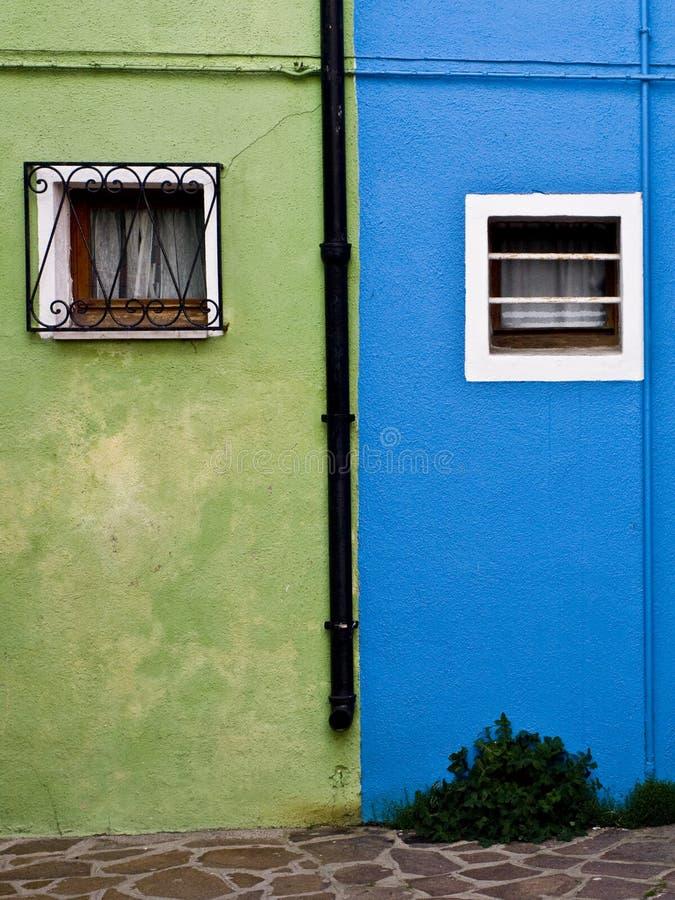 Fachada colorida em Burano imagens de stock royalty free