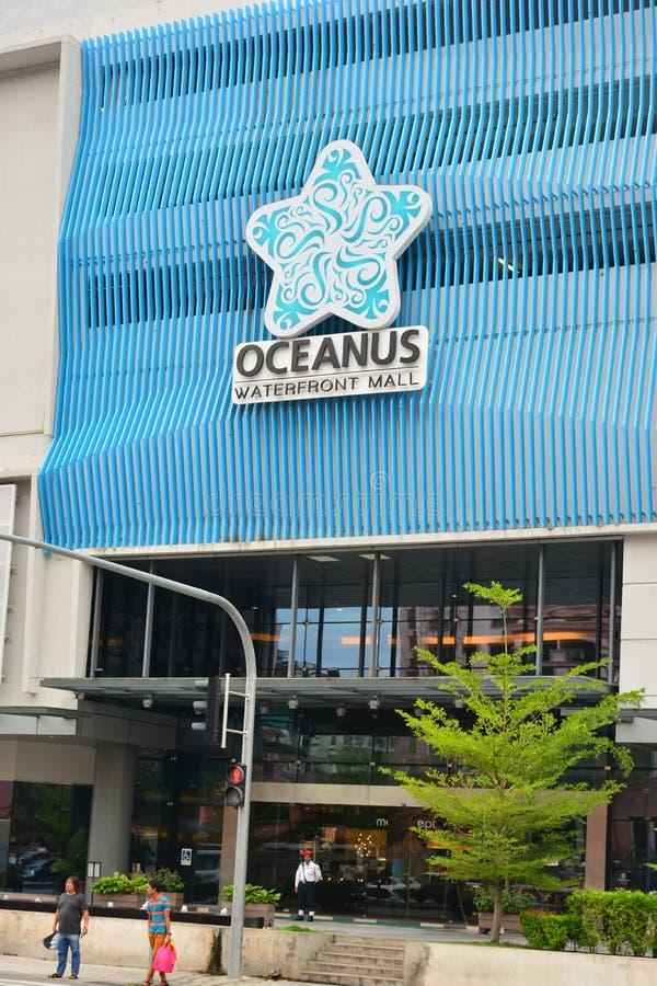 Fachada da alameda da margem de Oceanus em Malásia fotografia de stock royalty free