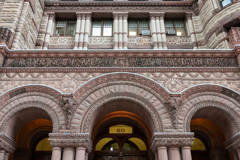 Fachada da câmara municipal velha em Toronto imagem de stock