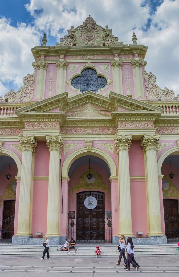 Fachada da catedral da basílica de Salta imagem de stock royalty free