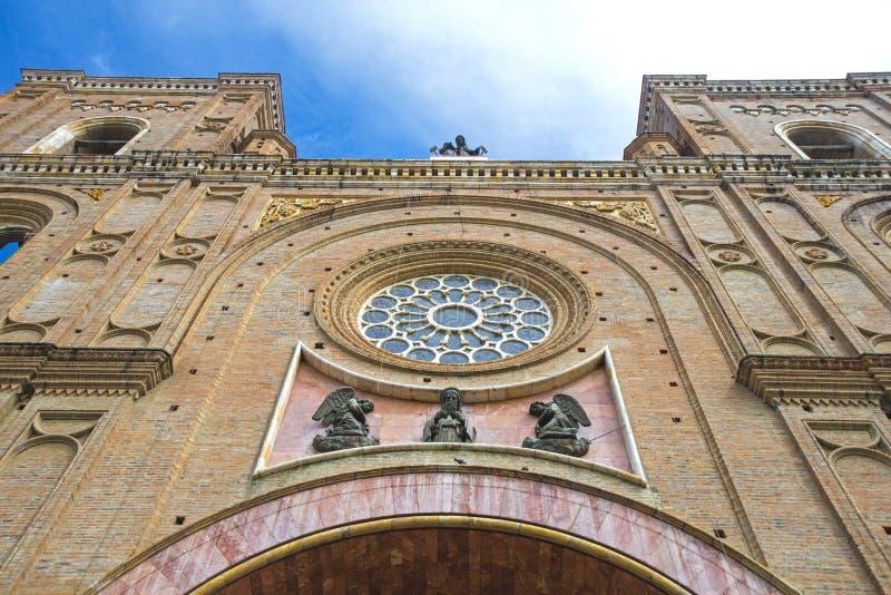 Fachada da catedral de Cuencas foto de stock