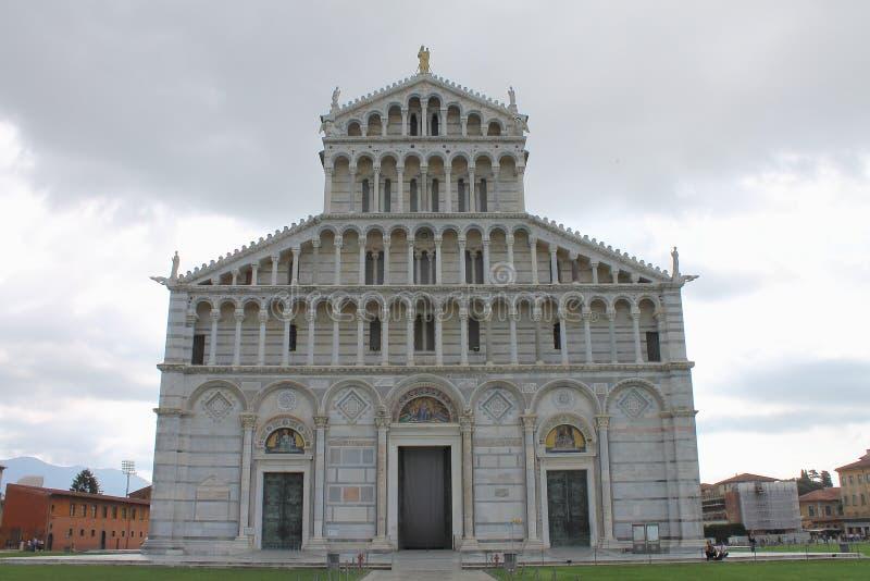 Fachada da catedral de Pisa Toscânia Italy fotografia de stock royalty free
