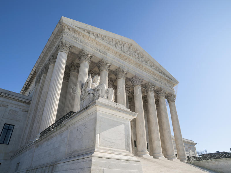 Fachada da construção da corte suprema do Estados Unidos fotos de stock