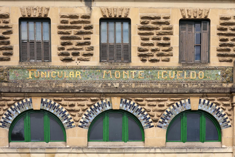 Fachada da estação, San Sebastian, Spain imagens de stock royalty free