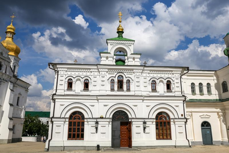 Fachada da igreja do refeitório em Kiev, Ucrânia imagem de stock