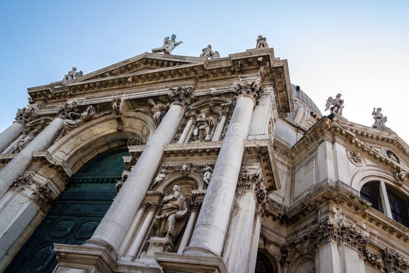 Fachada da saudação do della de Santa Maria fotos de stock