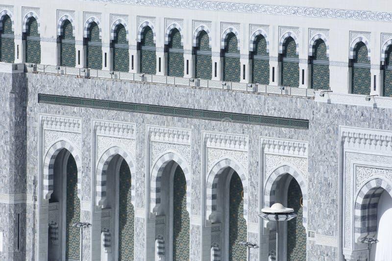 Fachada de Al Haram de Al Kaaba fotografía de archivo