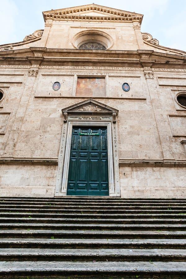 Fachada de Basilica di Sant Agustín en Roma fotos de archivo libres de regalías