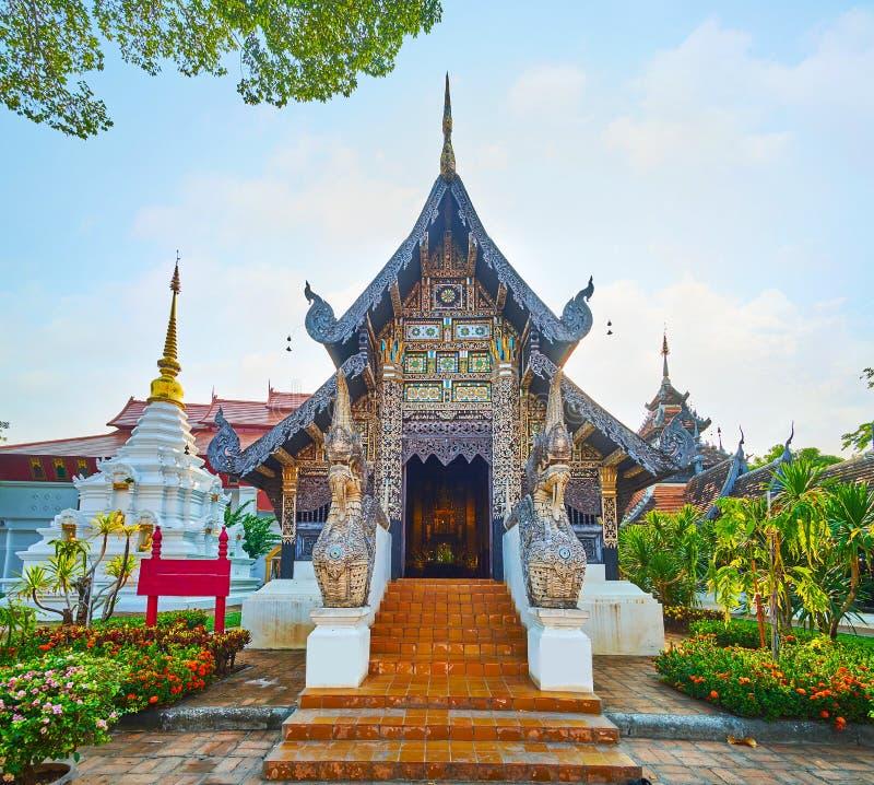 Fachada de Bhuridatto Viharn, Wat Chedi Luang, Chiang Mai, Tailandia imágenes de archivo libres de regalías