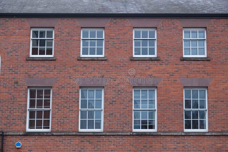 Fachada de Brickwall em Inglaterra imagem de stock