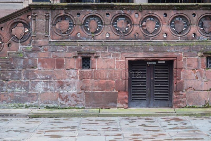 Fachada de Brickwall em Inglaterra fotografia de stock royalty free