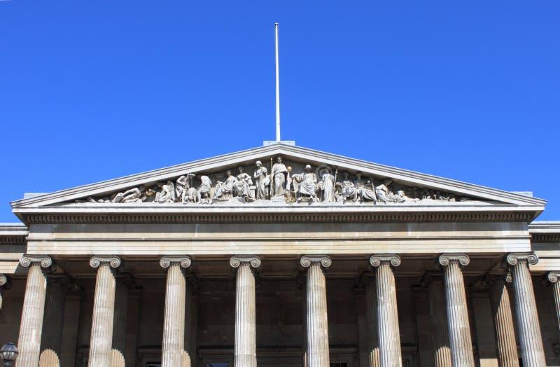 Fachada de British Museum fotos de archivo