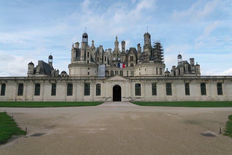 Fachada de Castelo de Chambord imagens de stock