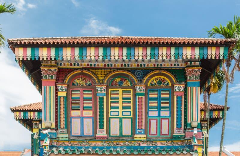 Fachada de constru??o velha colorida, projeto indiano do estilo imagem de stock royalty free