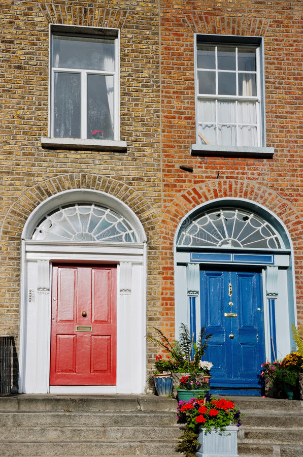 Fachada de Dublín. Irlanda imágenes de archivo libres de regalías