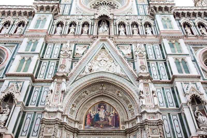 A fachada de Florence Cathedral bonita consagrou em 1436 fotos de stock royalty free